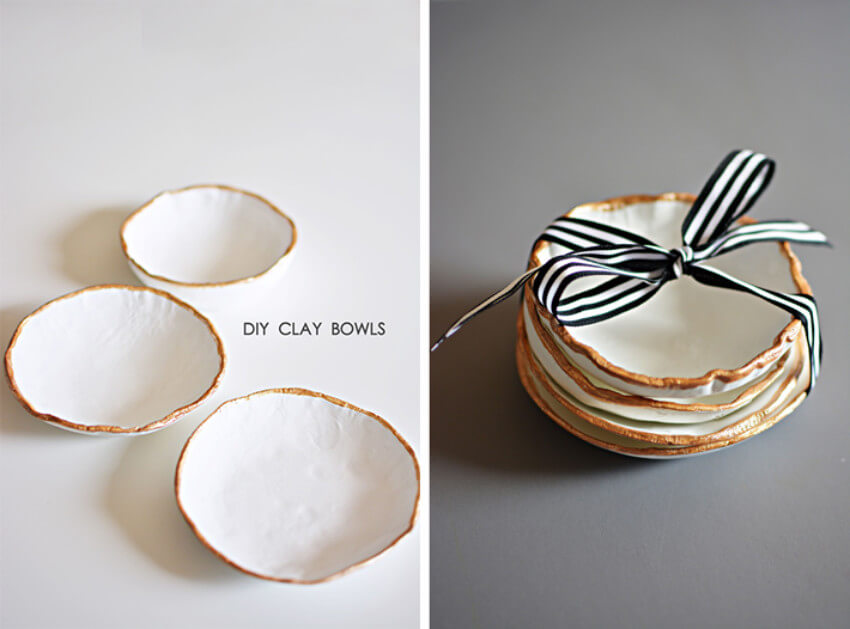 These clay bowls can be the perfect Christmas gift!