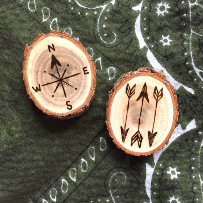 With wood-burning you can create a very thoughtful gift!