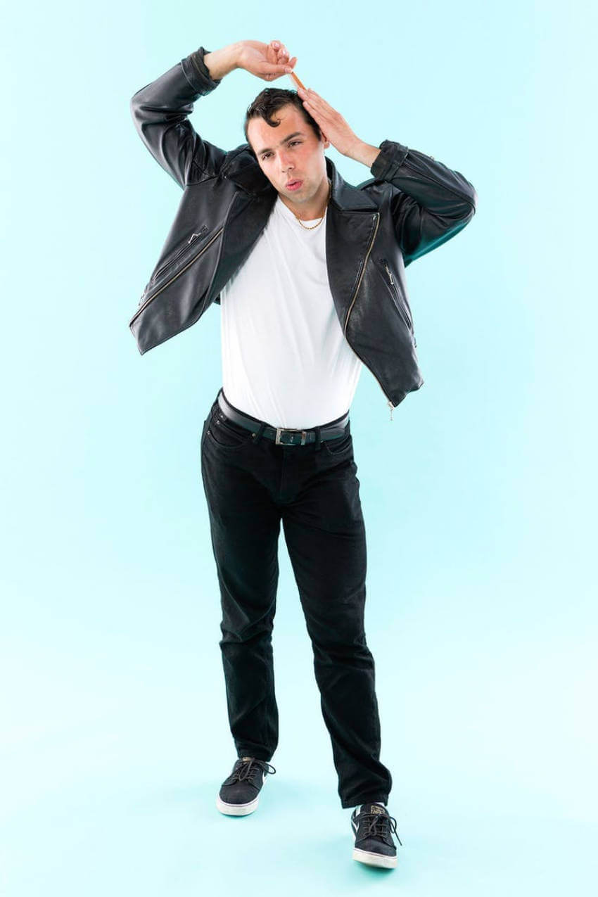 Danny Zuko is a classic character and it's so easy to dress up like him!