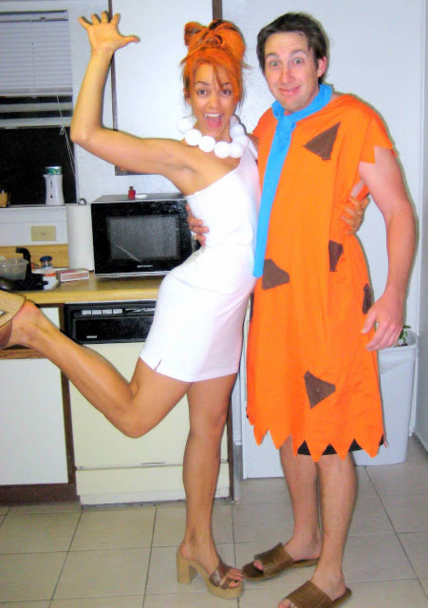The flintstone's are here to give you a great Halloween!