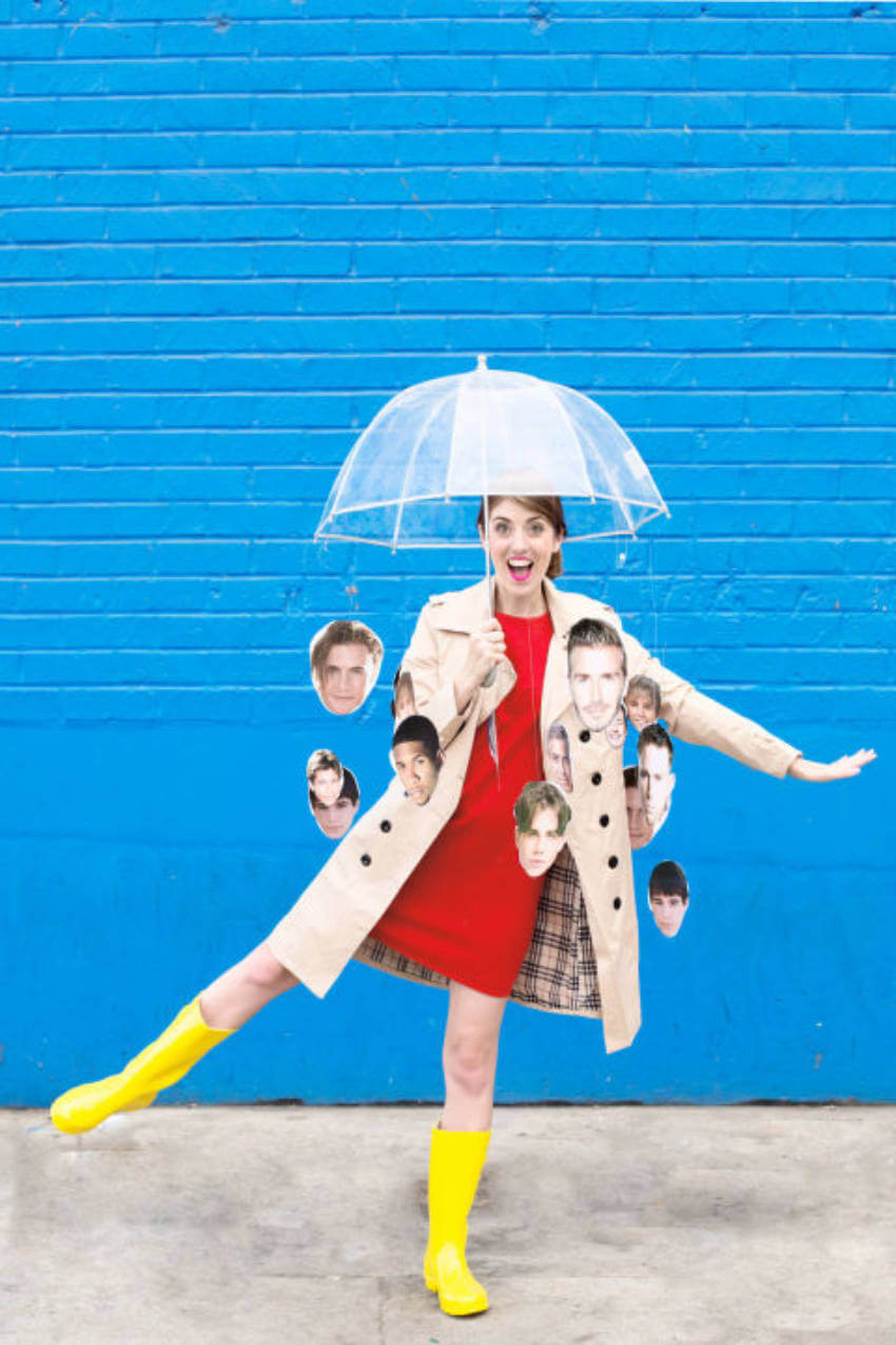 It's raining men! Put together this simple costume to make your friends laugh!