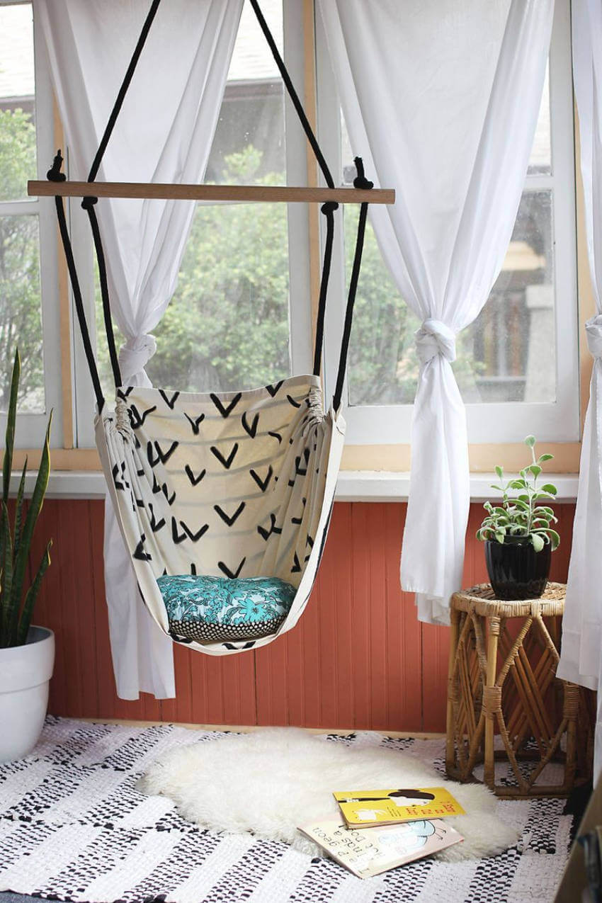 Indoor hammock chair.