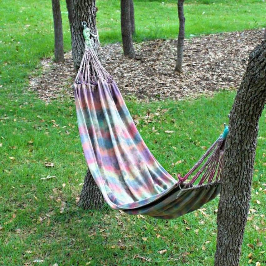 Tie dye hammock.