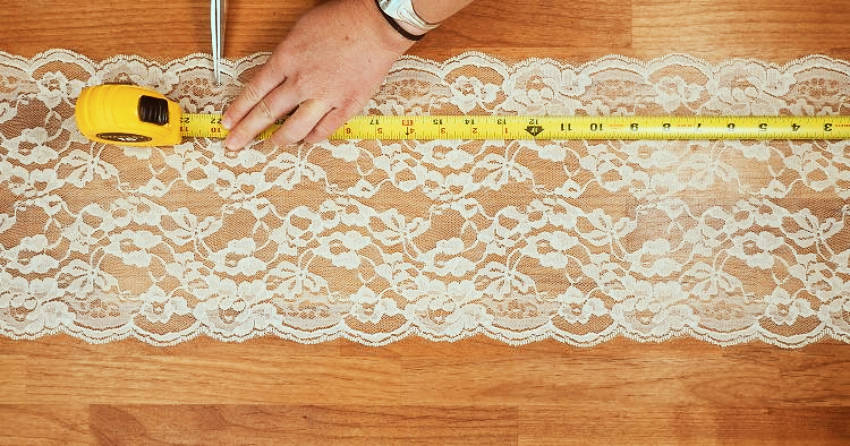 Make sure your scissors are super sharp so your lace won't get ruined!