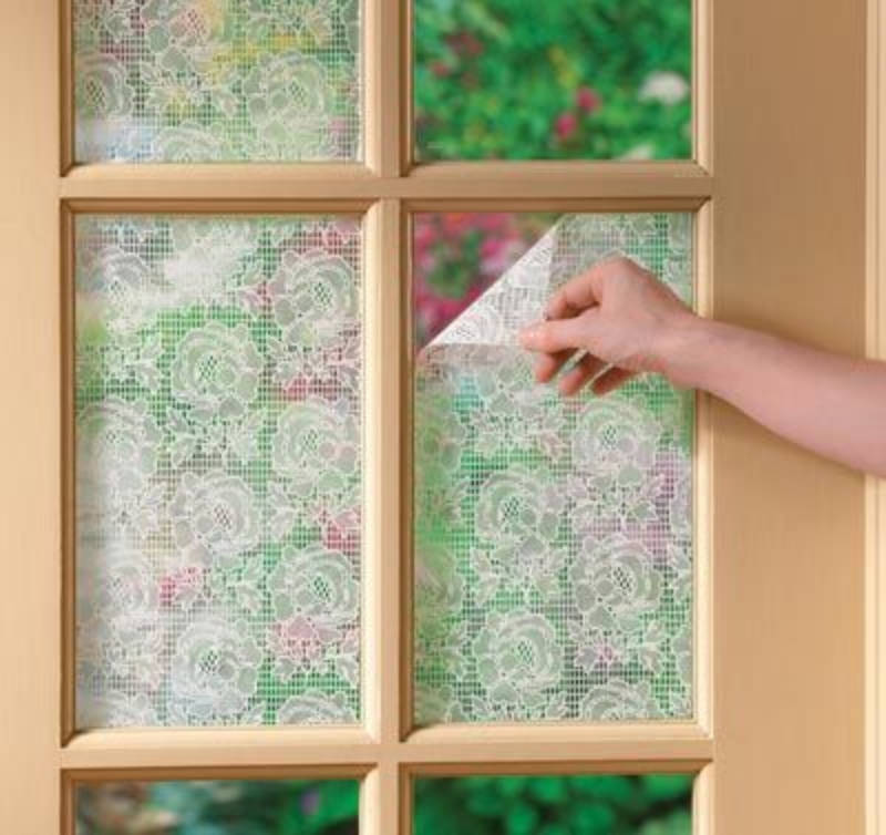 4 Simple Steps To Diy A Lace Privacy Window Homeyou