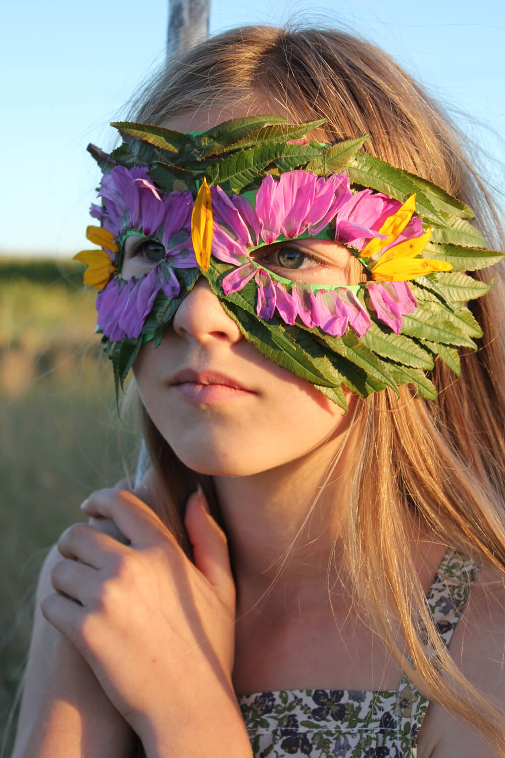 A mask can be made from leaves for minimal cost and effort
