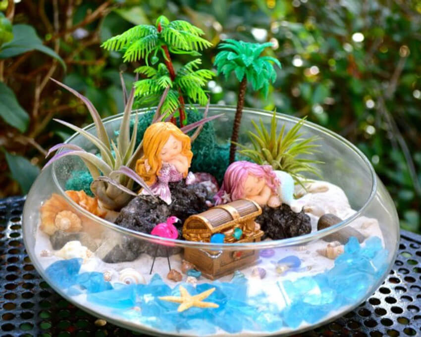 The kids can also get their own mermaid gardens!