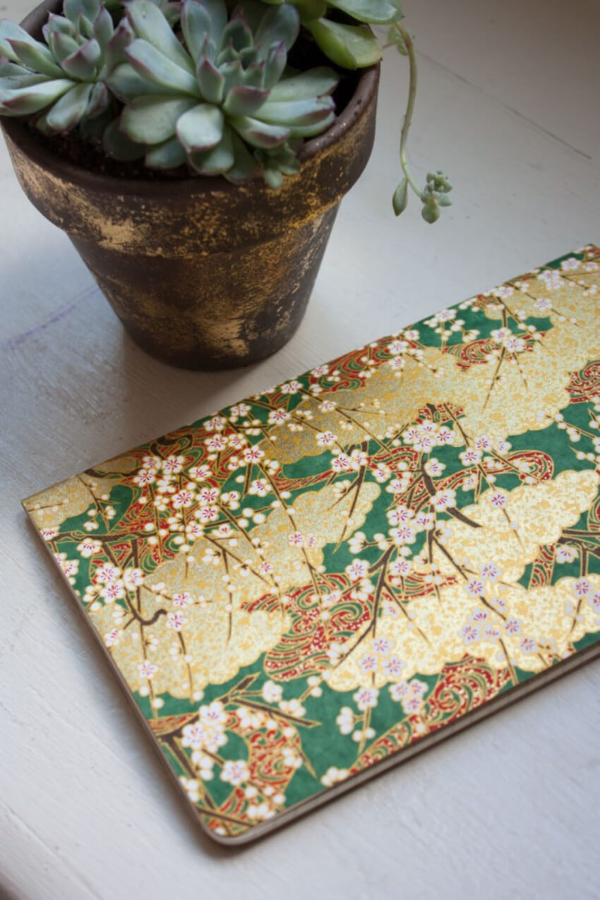 Find the most beautiful paper and create a gorgeous journal for mom.