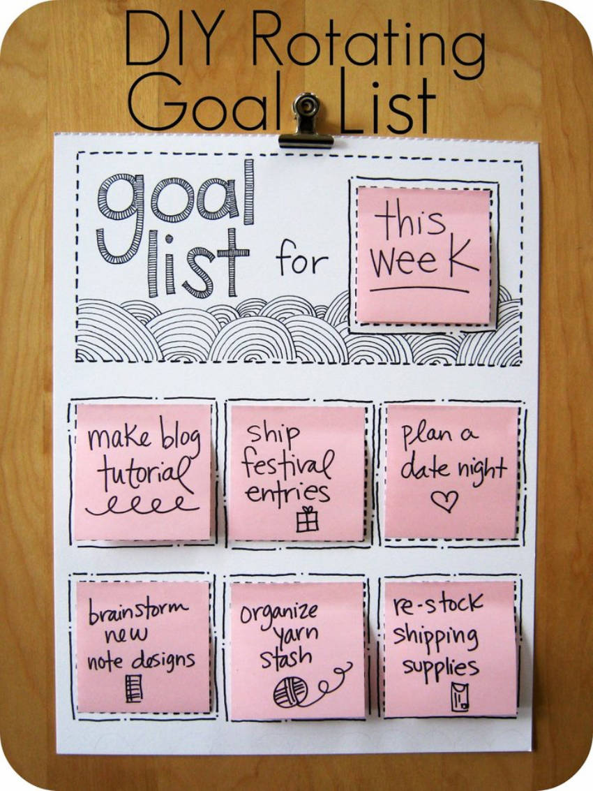 A DIY goals list to keep your week organized!