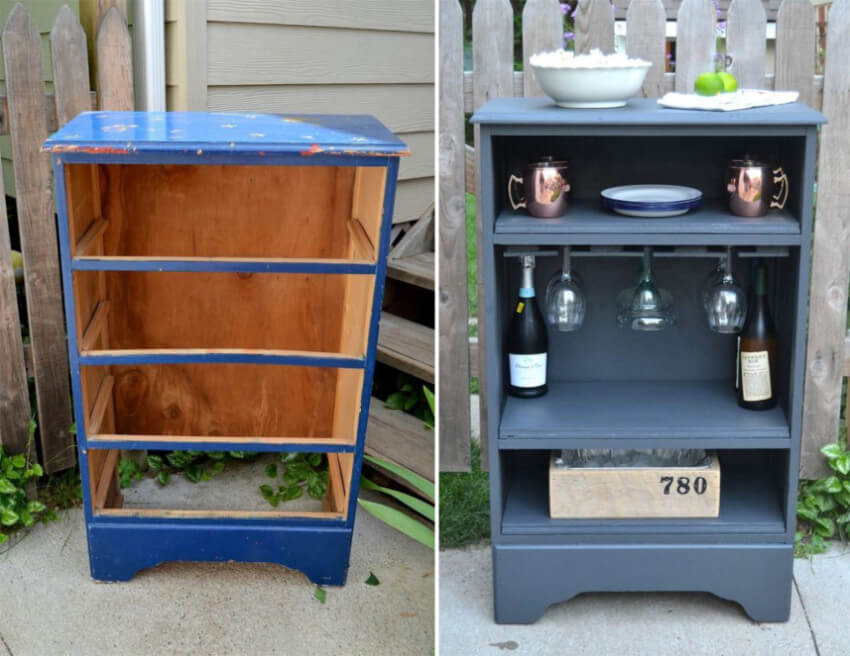 A patio bar is a great idea for grown up parties.