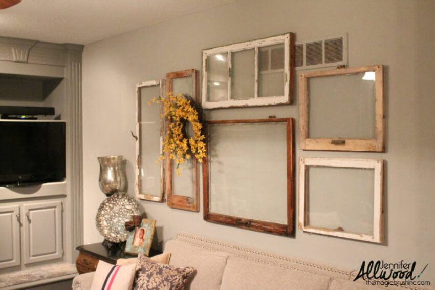 Mix and match different window frames to create this look!