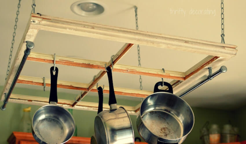 This pot rack can be added to any kitchen!
