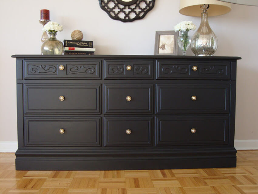 Check the before and after of this dresser by clicking the link.