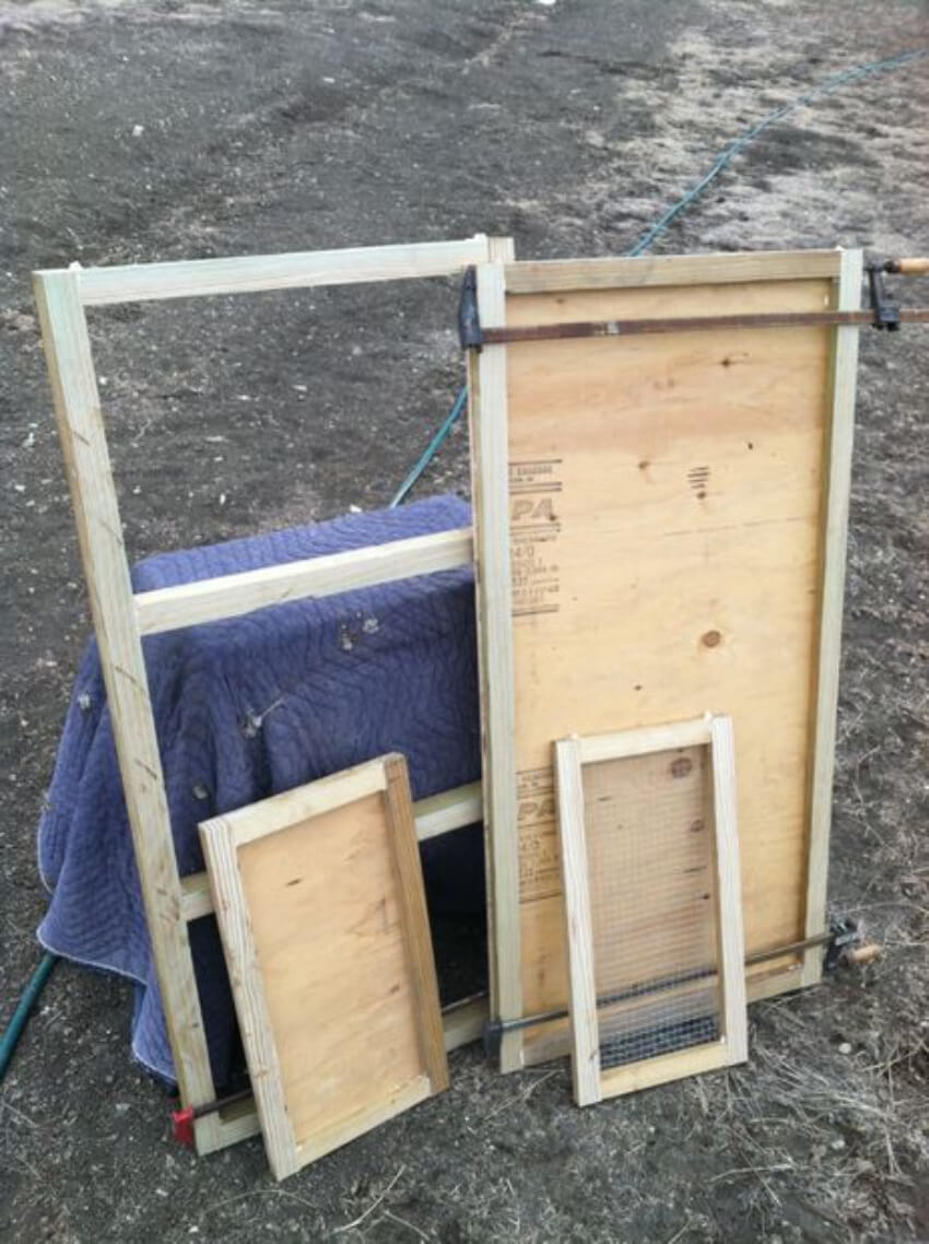 Bottom, top and side frames.