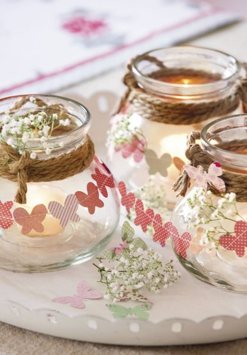 Candles will create a romantic mood for your spring decor!