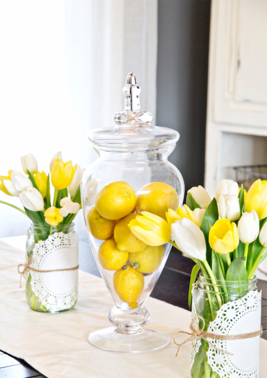 Lemons can also make a centerpiece, how about that?