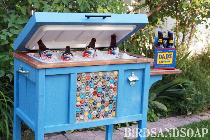 Awesome personalized blue cooler!