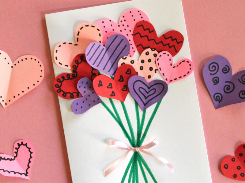 10 Adorable (and Easy!) DIY Valentine's Day Cards