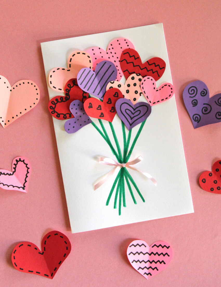 Doesn't this heart bouquet look incredible?!