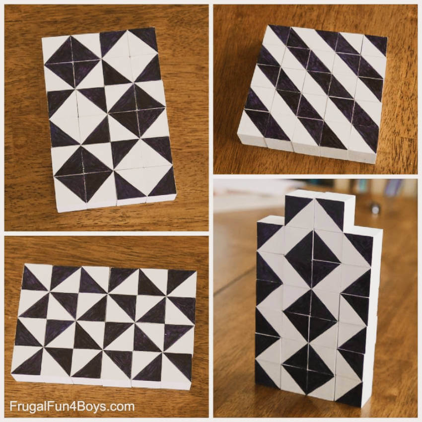These pattern blocks will give you all sorts of fun combinations!