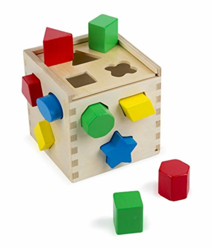 Allow your kid to have fun and learn at the same time with this shape sorting cube!