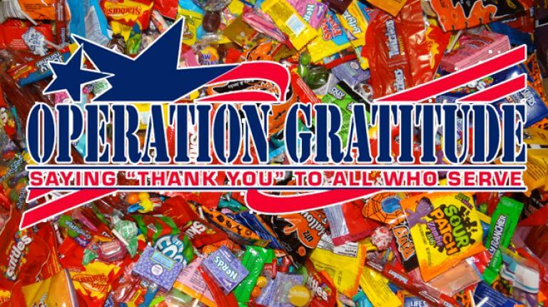 Donate your extra candy to kids or troops