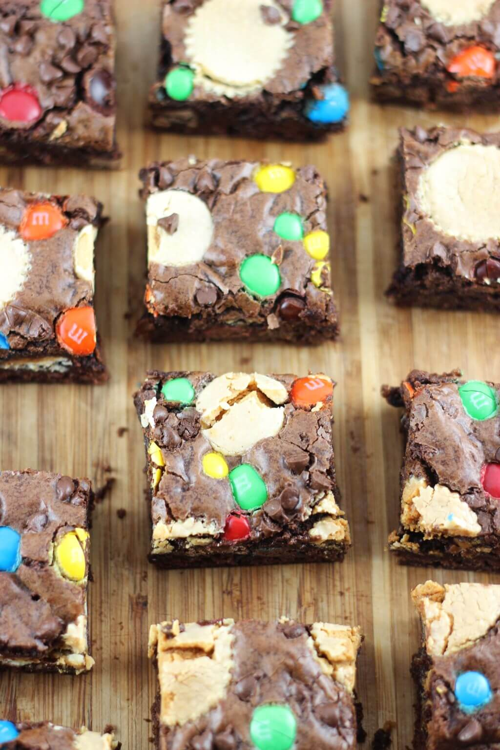 Brownies made from all sorts of different treats.