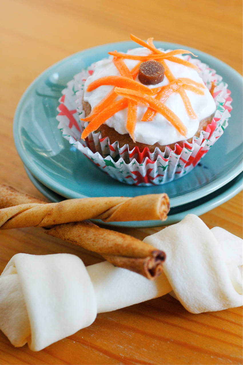 Carrot cupcakes to make your dog a healthy cake!