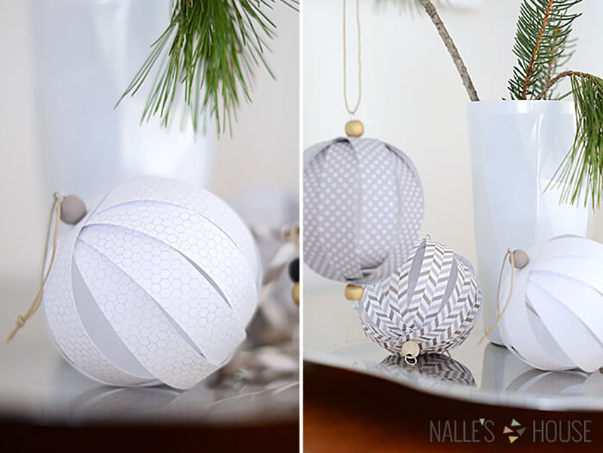 Scrapbook Paper Ornaments - Easy DIY Ornaments