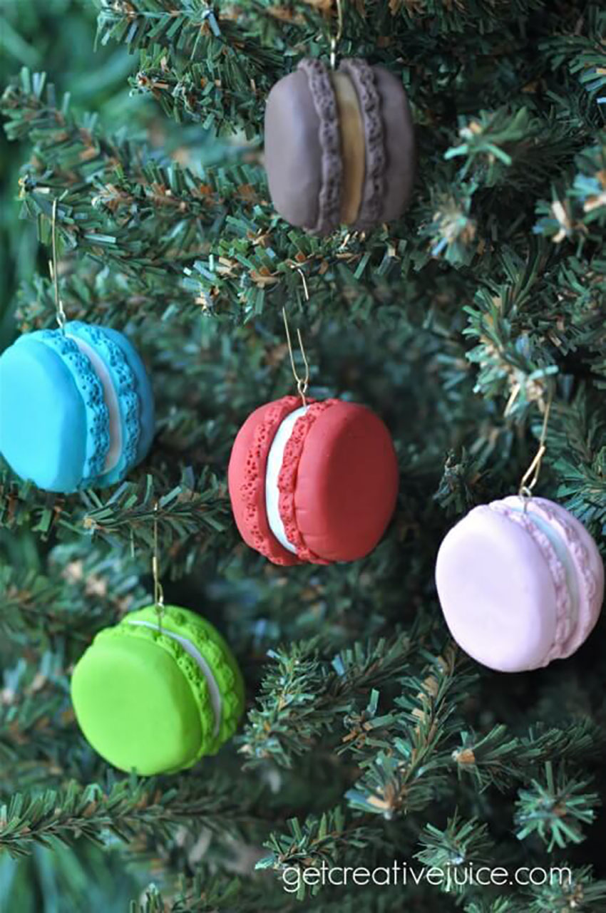 French Macaron Ornaments - Easy DIY Christmas Ornaments