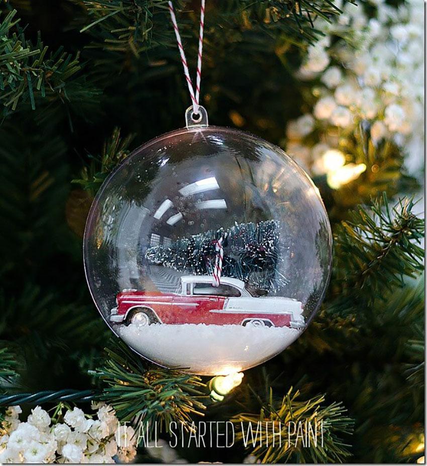Vintage Car Snow Globe - Easy DIY Christmas Ornaments