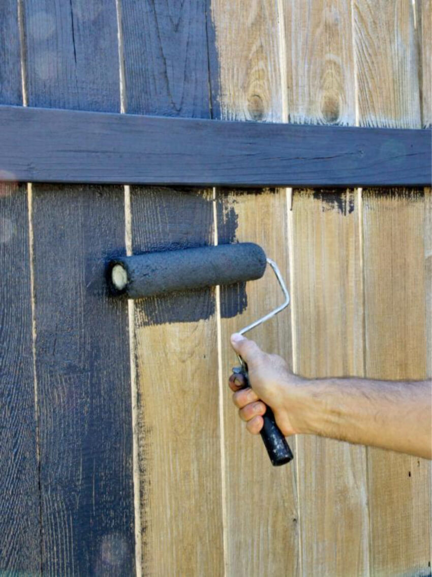 Give your home a new look by simply painting your fence.