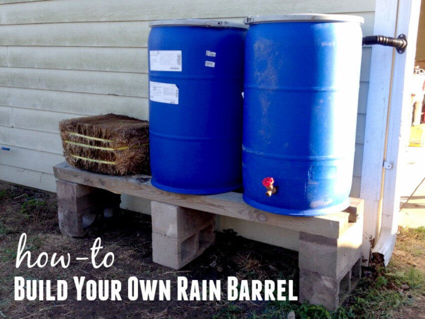 Rain barrels help save water and can be DIY projects.