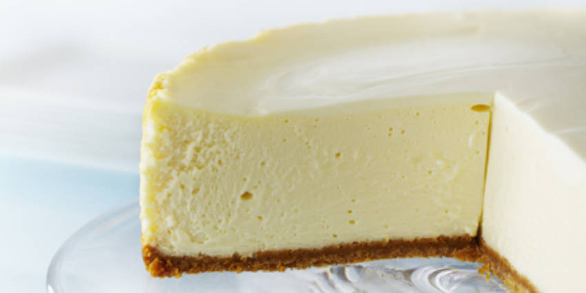 A classic cheesecake with an extra touch of sour cream.