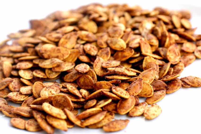 Roasted pumpkin seeds are very similar to nuts like almonds!