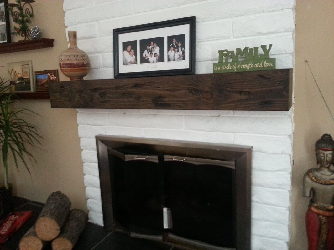 The fireplace mantel is a good place to start