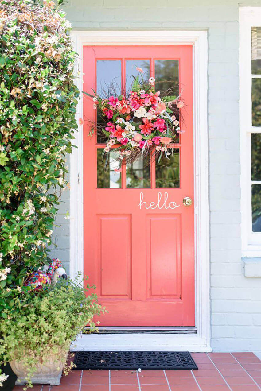 Painting your front door will help bring some life to your entryway decor.