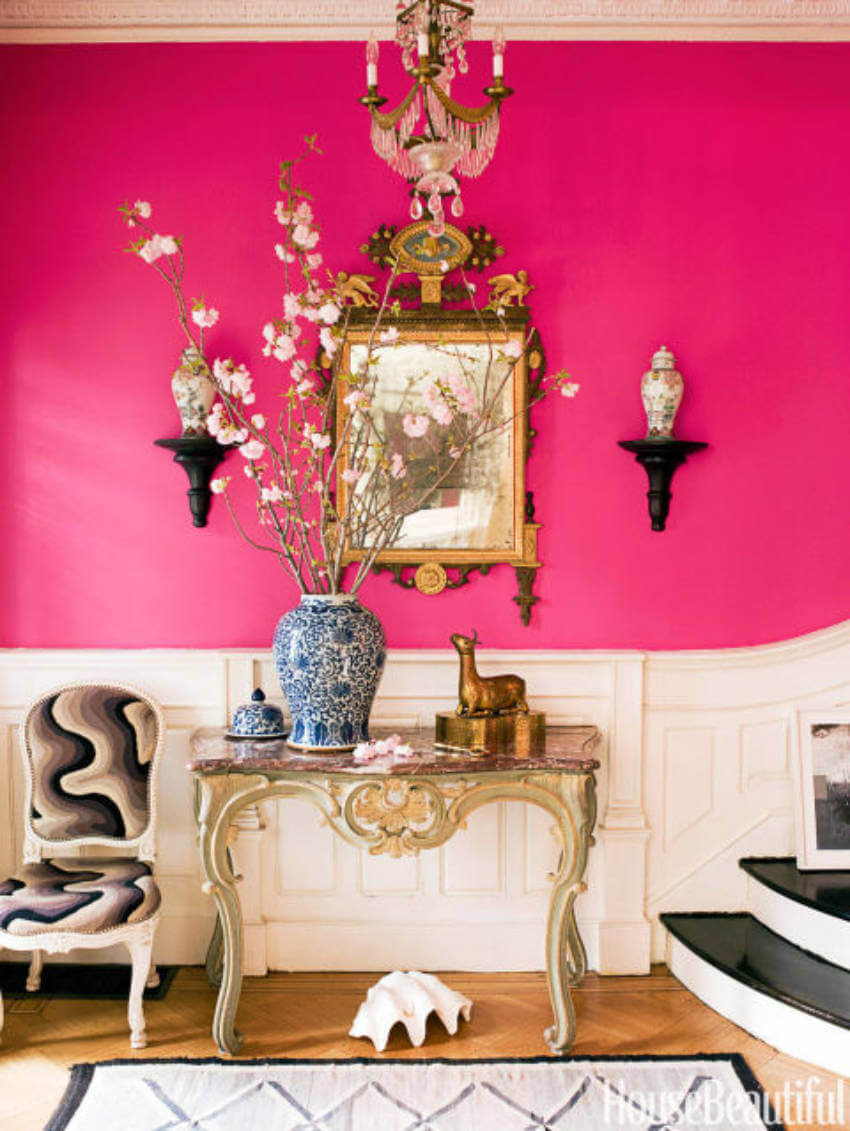Try painting the wall with a bold color!