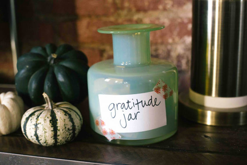 A gratitude jar is awesome because everyone can share their thoughts!
