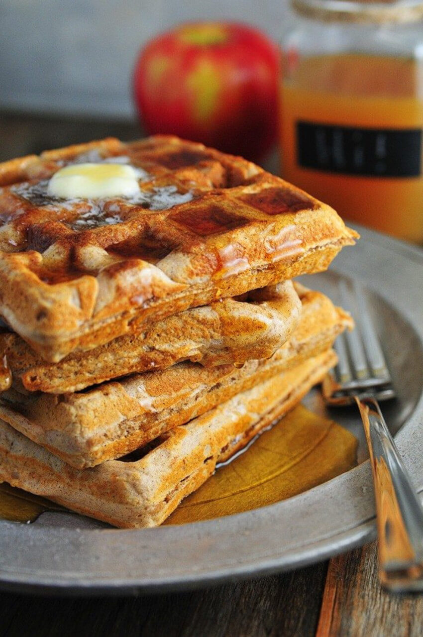 Apple cider waffles will make the perfect breakfast.