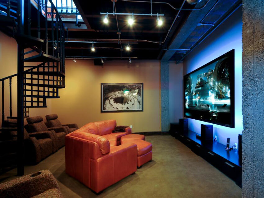 A media room is perfect for all sorts of occasions.