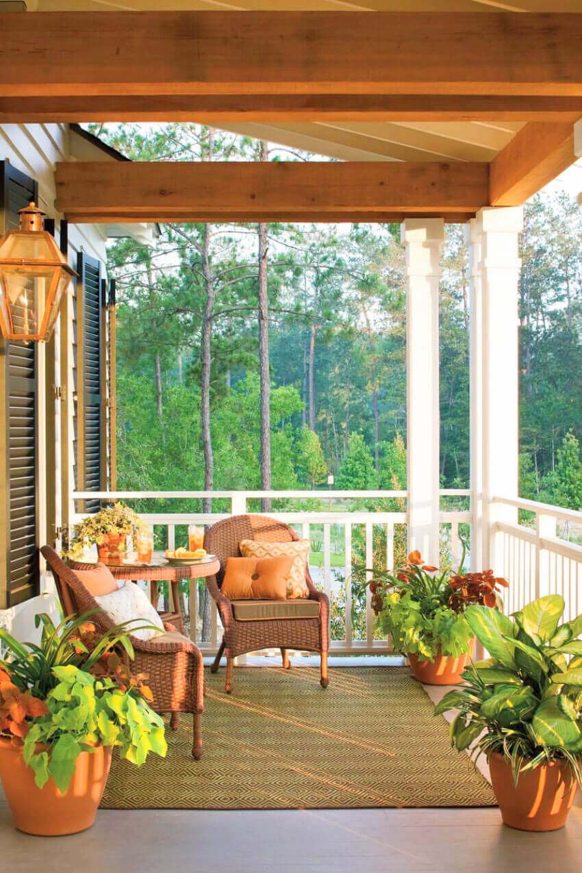 A cozy porch is what we all want.