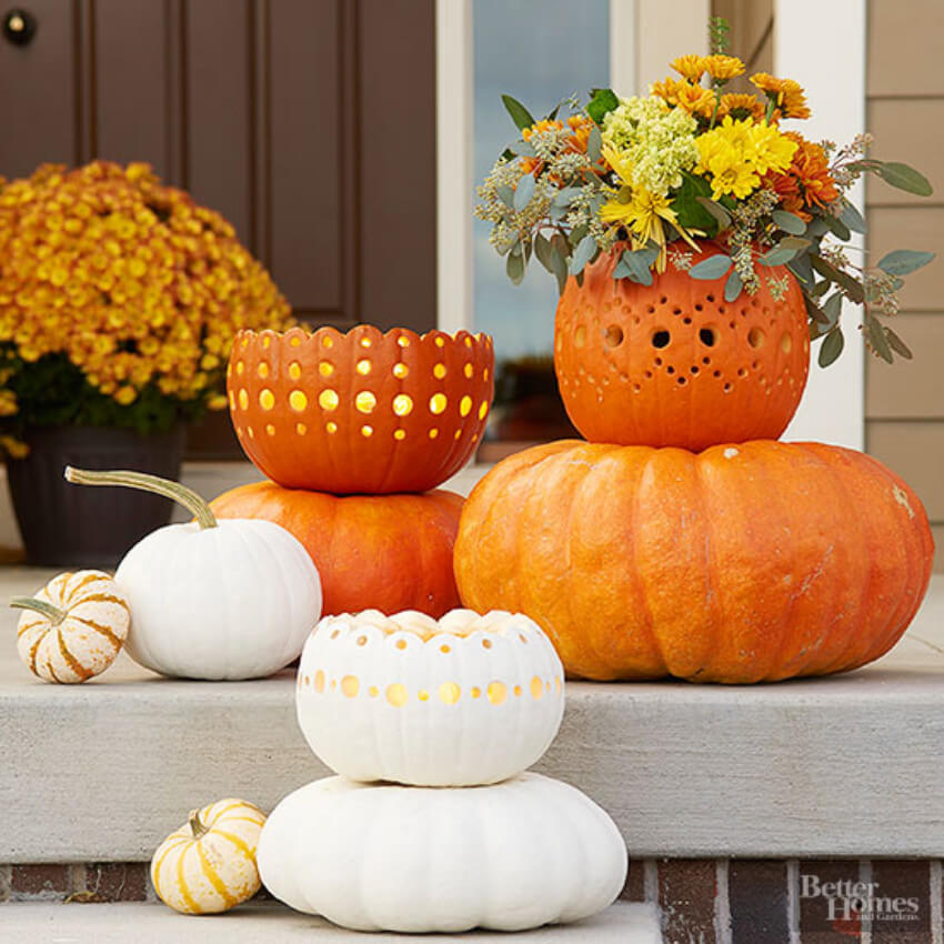 You can decorate your porch or use the bowls as vases!