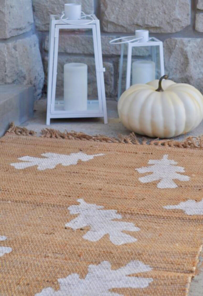Your porch deserves a beautiful fall-themed doormat.