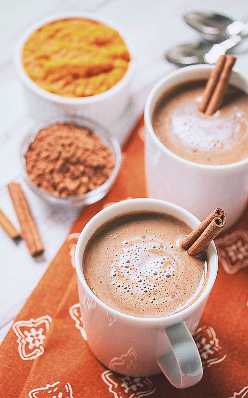 Vegan hot chocolate to get warm on a chilly night!