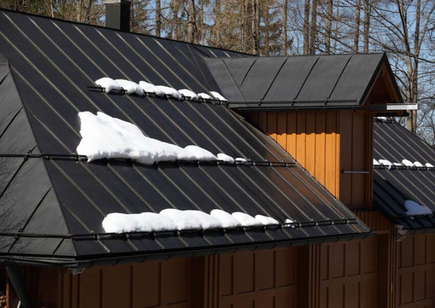 Metal roofs are great for shedding snow.