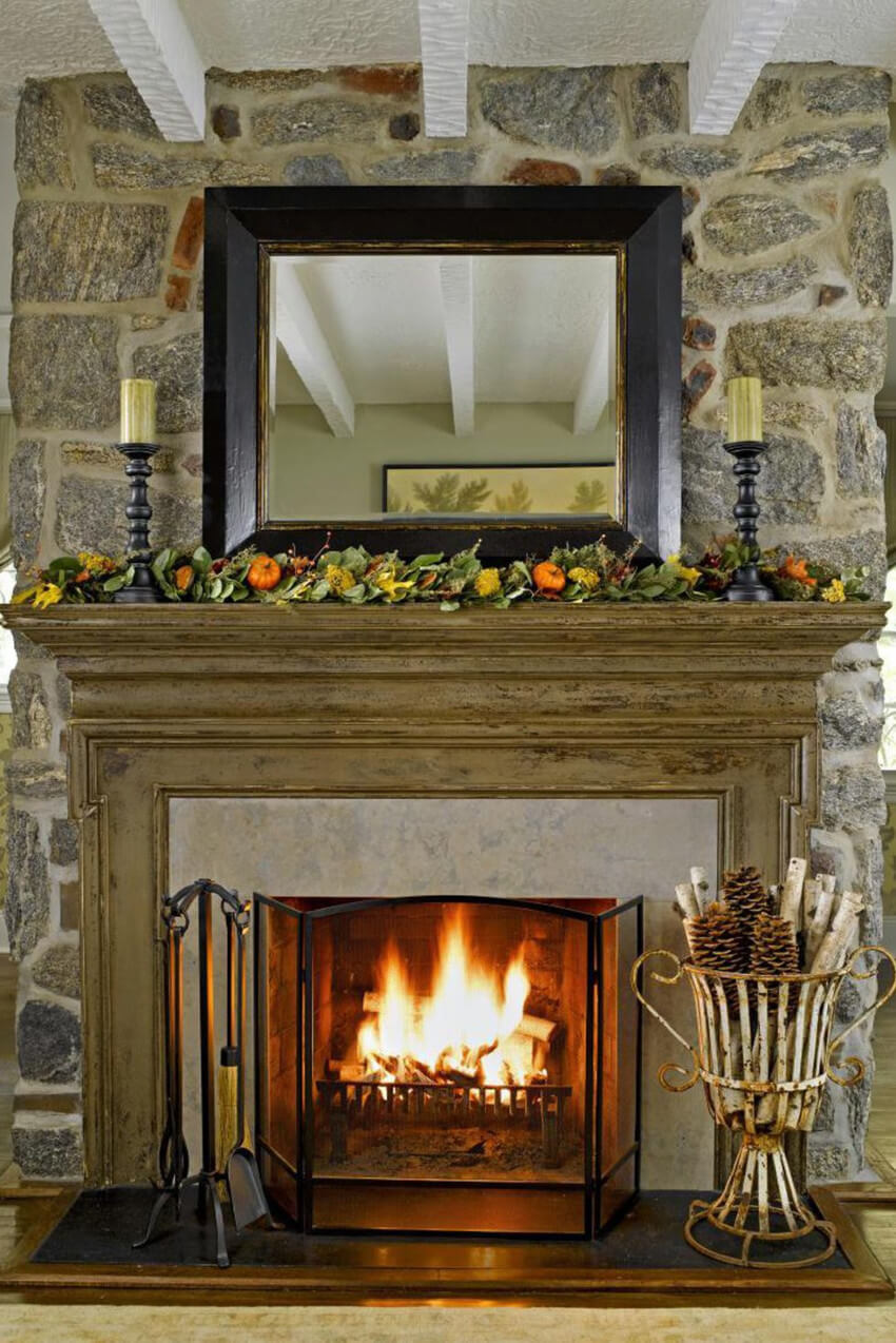 Get the fireplace cleaned and ready to use.