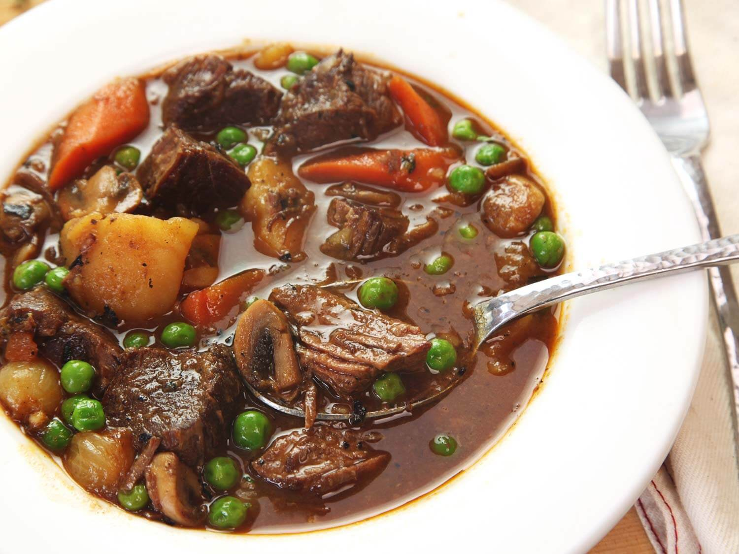 Delicious, warm beef stew