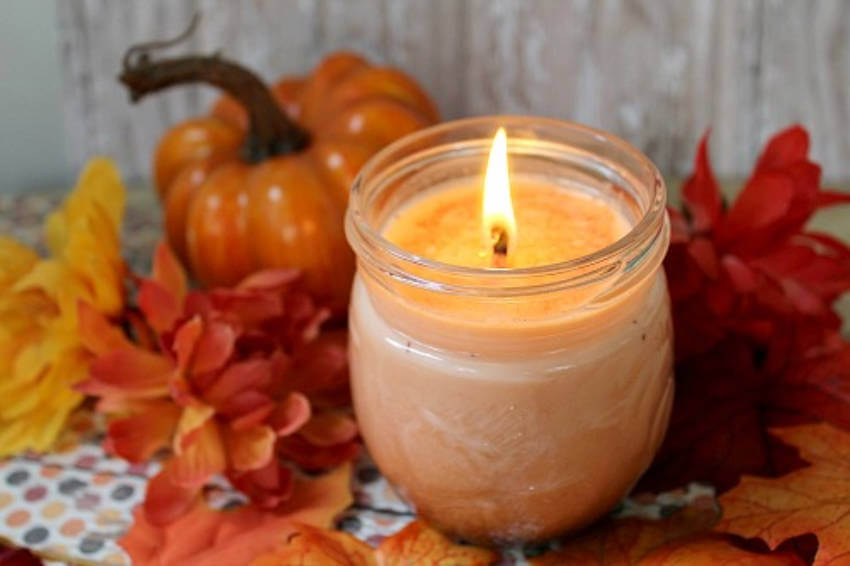 Scented candles are always a good option, especially when they're homemade like these!