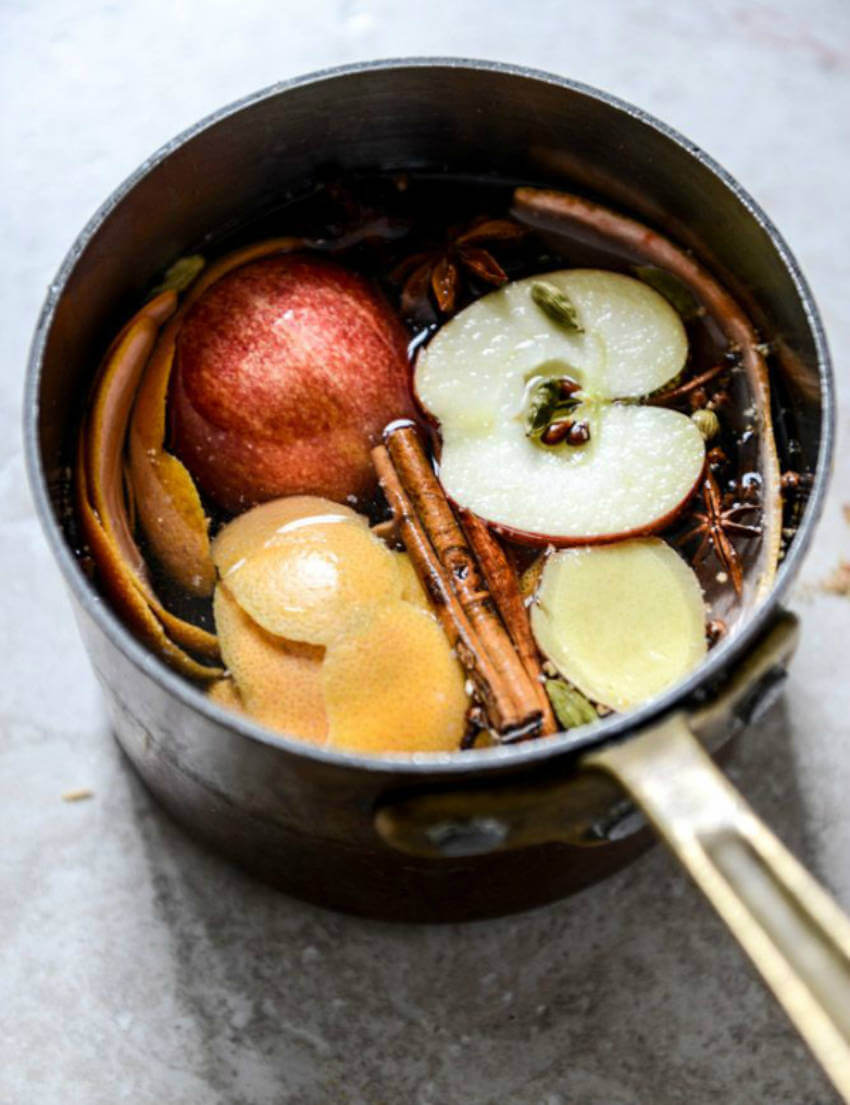 Bring the ingredients to a boil in a small saucepan to fill your home with the delicious scent!